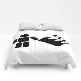Pictogram holding a movie clapperboard Comforters