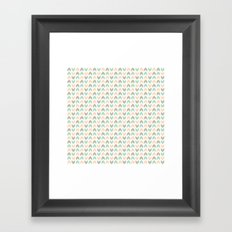 Pattern: Olive + Peach Arrows Framed Art Print