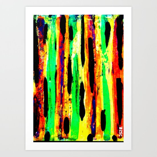 paint pattern 2 (red yellow & orange & green & blue) Art Print