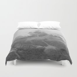 Rocky Mountain Fog B&W Duvet Cover