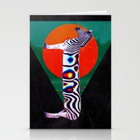zebra Stationery Cards featuring Zebra by Ali GULEC