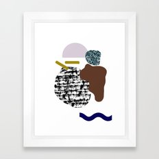 Flying objects Framed Art Print