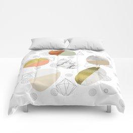 Circular forms - textures Comforters