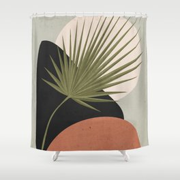 Tropical Leaf- Abstract Art 5 Shower Curtain