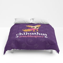 Chihuahua Granddaughter Pet Owner Dog Lover Purple Comforters