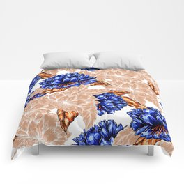 Floral Background Comforters