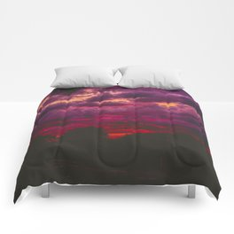 Stormy Sunset Comforters