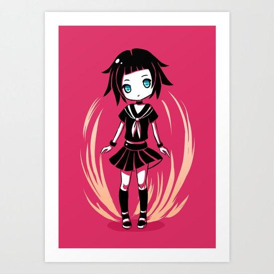 School Girl Art Print