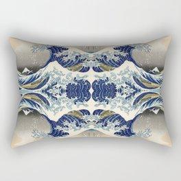The Great Wave off Kanagawa Symmetry Rectangular Pillow