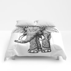 Ornate Elephant Comforters