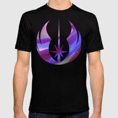 Star Wars Jedi Symbol in Blue Black Mens Fitted Tee MEDIUM