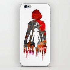 Black Widow Print iPhone & iPod Skin