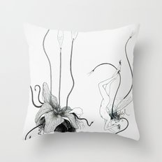 Floating Candle Plant Throw Pillow