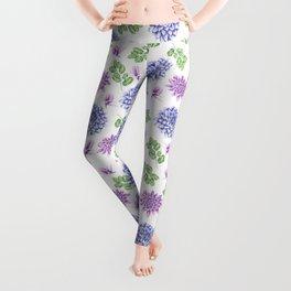 Lavender Garden Pattern Leggings