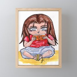 Me as a Fangirl Framed Mini Art Print