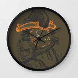 the tell tale heart. green eye Wall Clock
