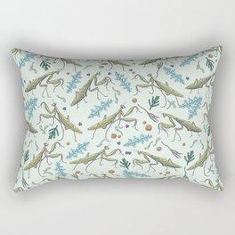 praying mantis in the garden Rectangular Pillow