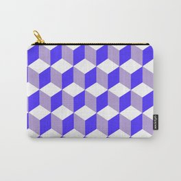 Diamond Repeating Pattern In Nebulas Blue and Grey Carry-All Pouch