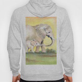 Colorful Mom and Baby Elephant 2 Hoody