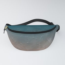 Modern  Textured  Atlantic Blue Abstract Fanny Pack