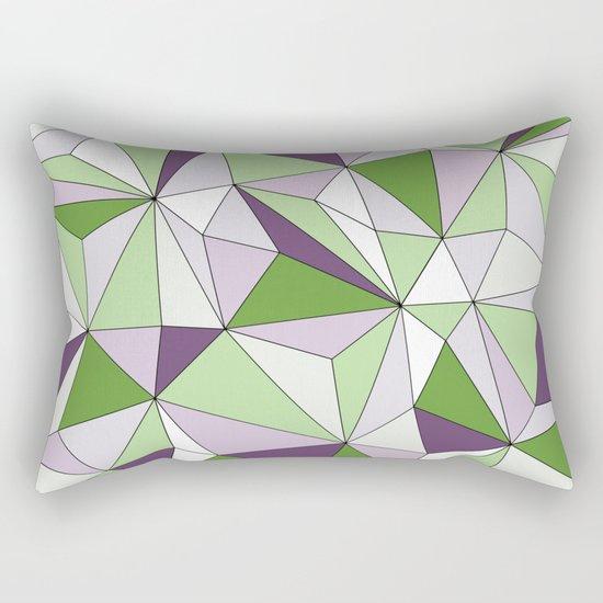 Geo - green, purple, gray and white. Rectangular Pillow
