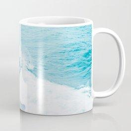 Wave Surfer Turquoise Coffee Mug