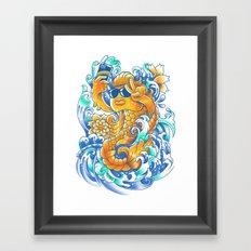 Selfie-ish Fishtail-ish Framed Art Print