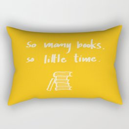 So Many Books. So Rectangular Pillow