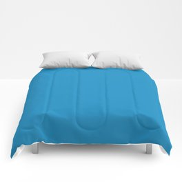 Cyan Cornflower Blue - solid color Comforters