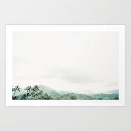 Hanalei Fog Art Print