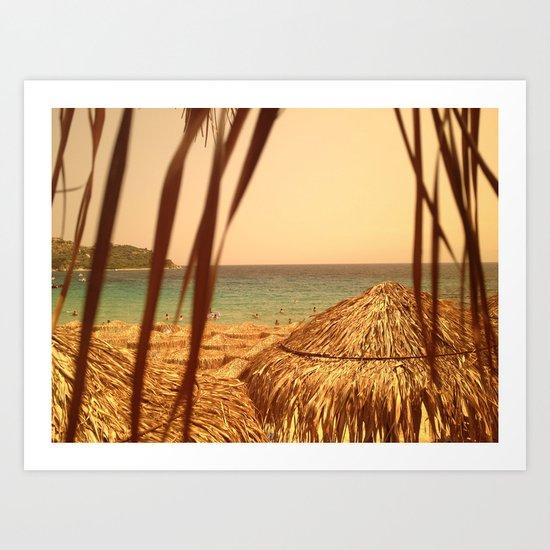 Sunny beach. Art Print