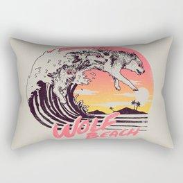 Wolf Beach Rectangular Pillow