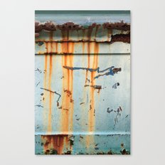 Rust Streaks on Aqua Canvas Print