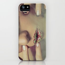 Smoke & Fishnets iPhone Case