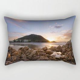 'Mauao' Mount Maunganui Rectangular Pillow