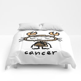 crabby cancer cutie pie Comforters
