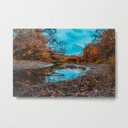 Autumn Creek. Photograph Metal Print