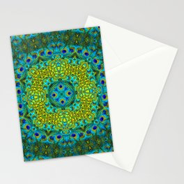 Peacock Feathers - Blue Stationery Cards