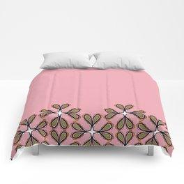 Paisley en fleurs fall treillis base 2 Comforters
