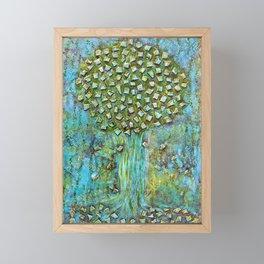 Turquoise home Framed Mini Art Print