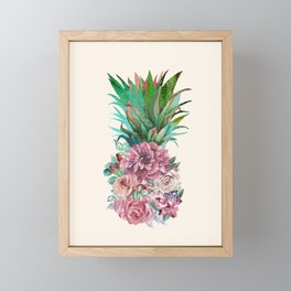 Floral Pineapple Framed Mini Art Print