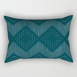 Teal Tribal Rectangular Pillow