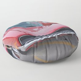 Vintage 1968 Torred MOPAR 426 Hemi Charger Muscle Car Color photography / photographs Floor Pillow