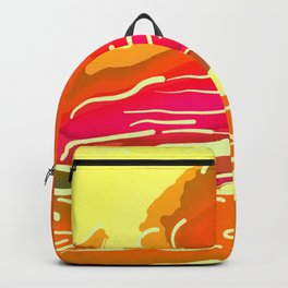 abstract style aurora borealis absstdi Backpack
