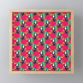Tropical Pink Toucans Framed Mini Art Print