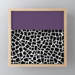 British Mosaic Purple Boarder Framed Mini Art Print