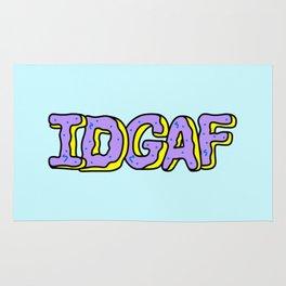 IDGAF Violet Donuts Rug