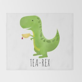 Tea-Rex Throw Blanket