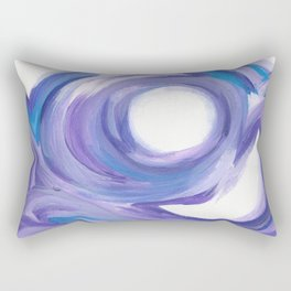 Wind on the City --  Abstract painting in modern lavender purple with hints of bright blue Rectangular Pillow