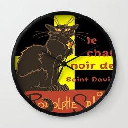 Le Chat Noir De Saint David De Rodolphe Salis Wall Clock